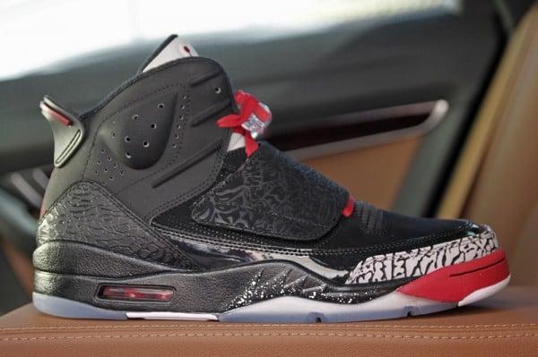 Jordan Son of Mars 'Black/Varsity Red-Cement Grey-White' - Final Look