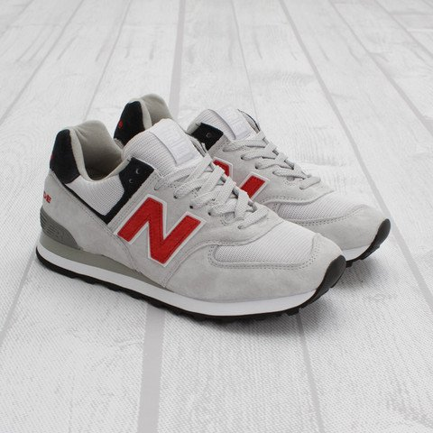 New Balance US574 'Grey/Red-Navy'