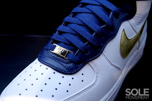 Nike Air Force 1 High Premium USA White Navy Gold