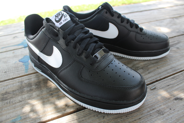 nike air force 1 low black and white suede loafers
