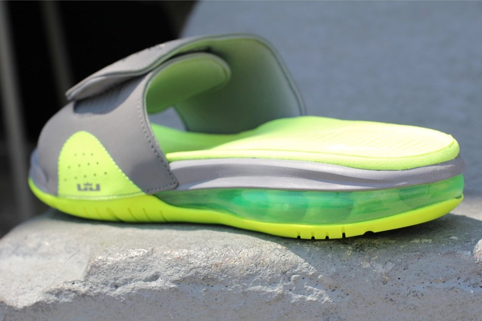 Nike Air LeBron Slide 'Cool Grey/Volt'