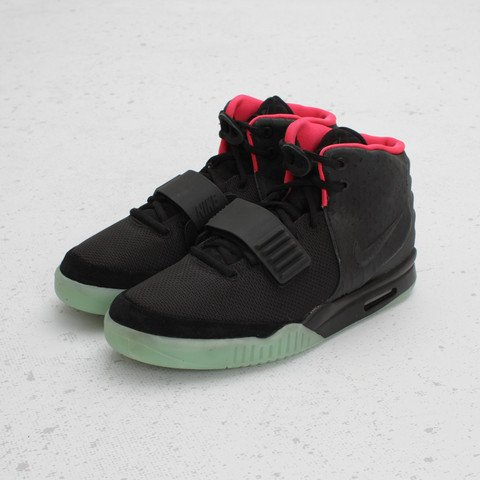 Nike Air Yeezy 2 NRG 'Black/Black-Solar Red' at Concepts