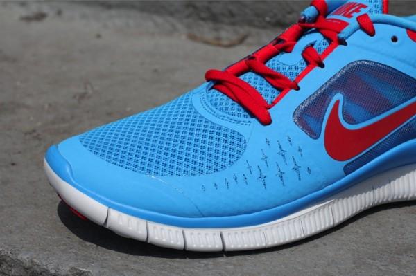 Nike Free Run+ 3 'Blue Glow/University Red'