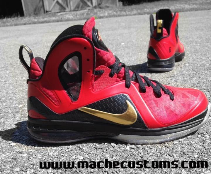 the latest 35838 3ac16 Nike LeBron 9 P.S. Elite  Finals PE  Custom by Mache