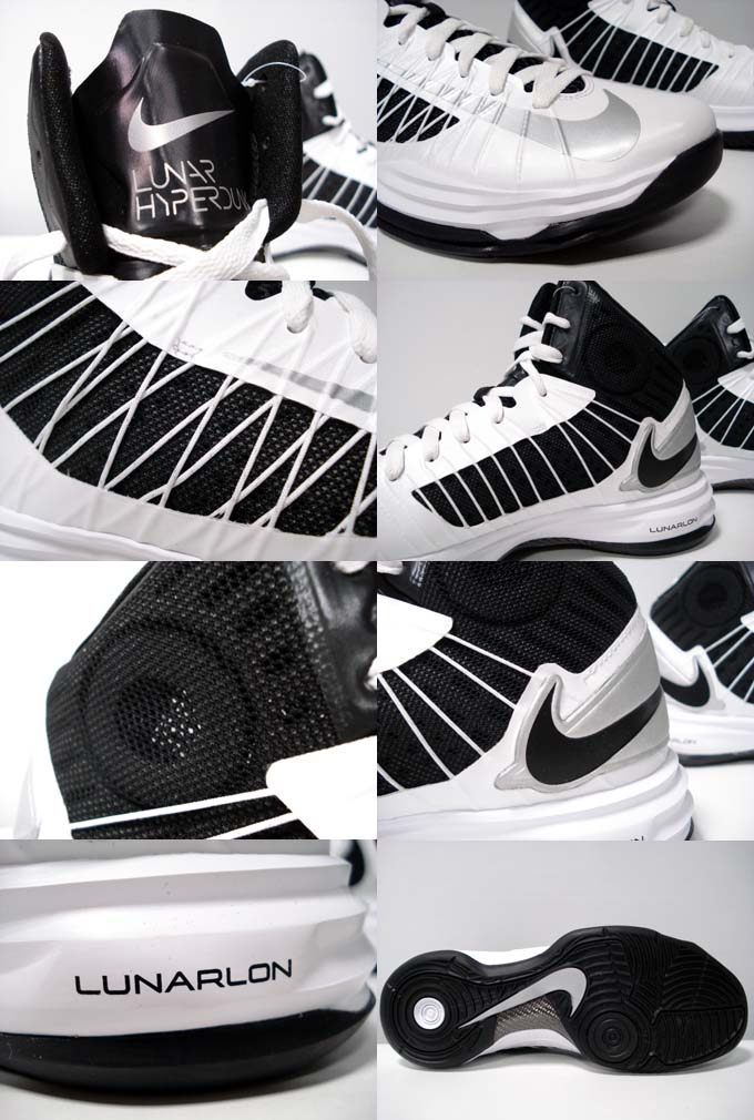 Nike Lunar Hyperdunk 2012  Black White-Silver   9d372225d
