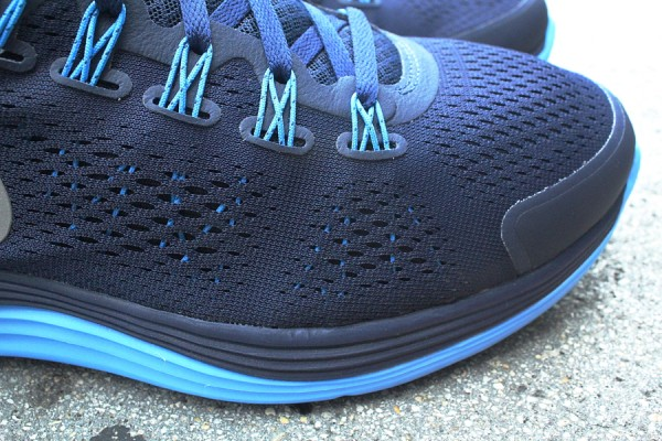 Nike LunarGlide+ 4 'Midnight Navy/Reflective Silver-Blue Glow' at Mr. R Sports