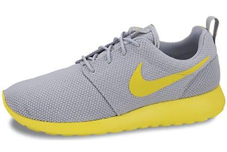 99ab9b0768ff7 Nike Roshe Run Wolf Grey Speed Yellow Release Info