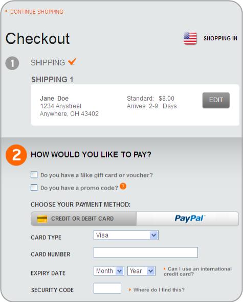 NikeStore Overhauls Checkout Process