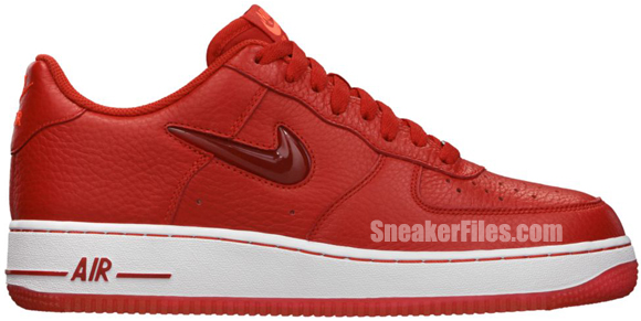 Release Reminder: Nike Air Force 1 Low Jewel 'Sport Red'