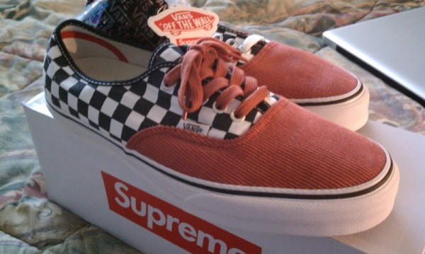 Supreme x Vans Checkered + Corduroy Era Pro