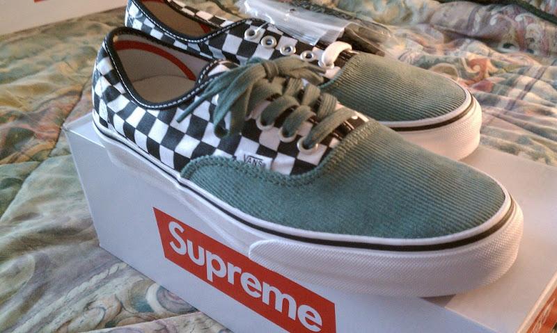 Supreme x Vans Checkered + Corduroy Era Pro