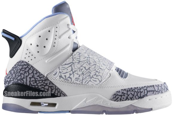 Air Jordan Son of Mars GS Girls White Prism Blue Wolf Grey Black