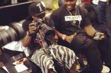 Celebrity Sneaker Watch: Lil Wayne Courtside in 'South Beach' LeBron 9s