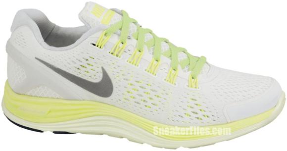 Nike Women's LunarGlide+ 4 'Summit White/Reflective Silver-Volt-Barely Volt'