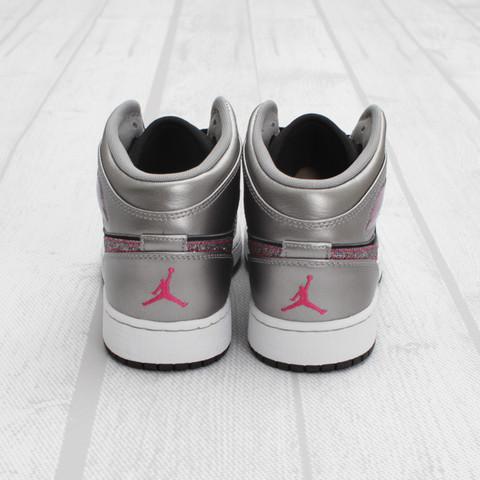Air Jordan 1 Phat GS 'Matte Silver/Berry'