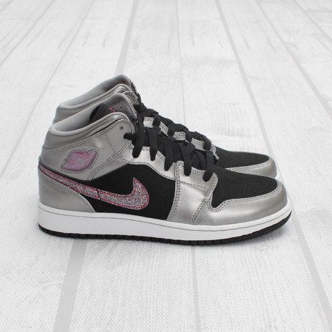 Air Jordan 1 Phat GS 'Matte Silver/Berry'
