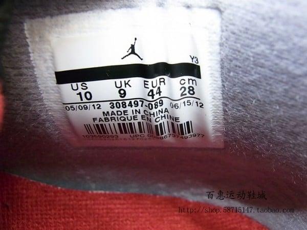 air jordan 11 bred 2012 size tag label