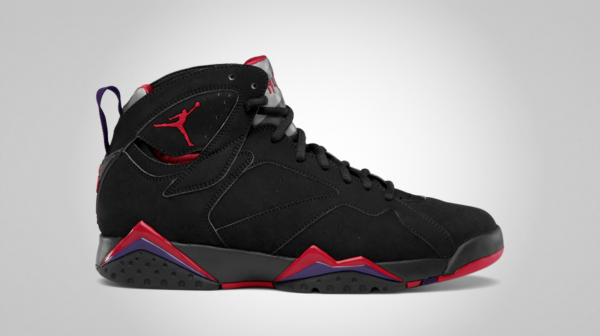 Air Jordan 7 'Black/True Red-Dark Charcoal-Club Purple' - Official Images