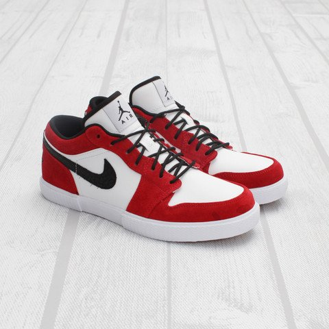 Air Jordan Retro V.1 'White/Black-Gym Red'