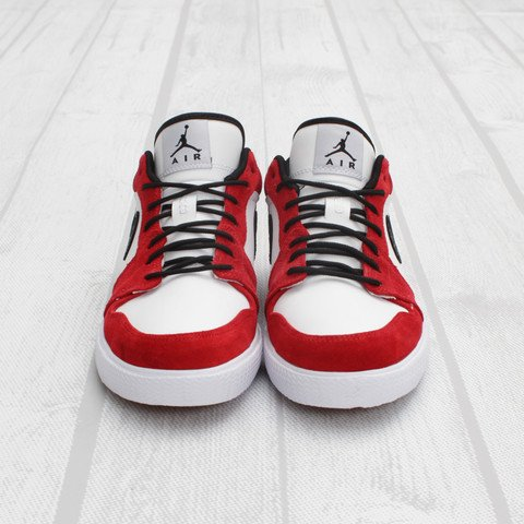 Air Jordan Retro V.1 'White/Black-Gym Red'