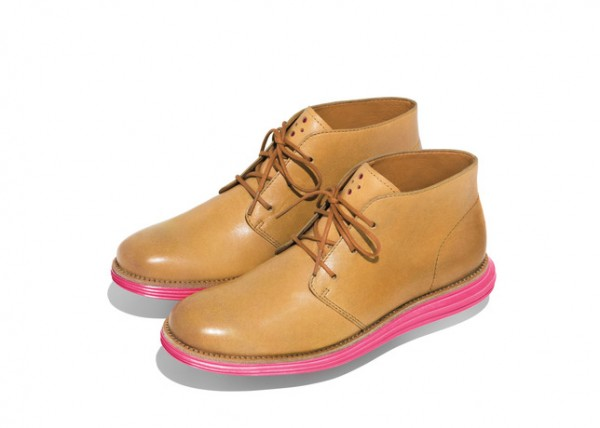Cole Haan Pink and Yellow LunarGrand Chukkas