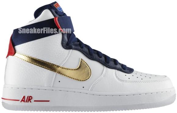 Nike Air Force 1 Hi Premium 'Olympic' Delayed at NikeStore