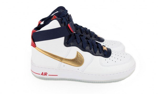 Nike Air Force 1 Hi Premium 'Olympic' at Bodega
