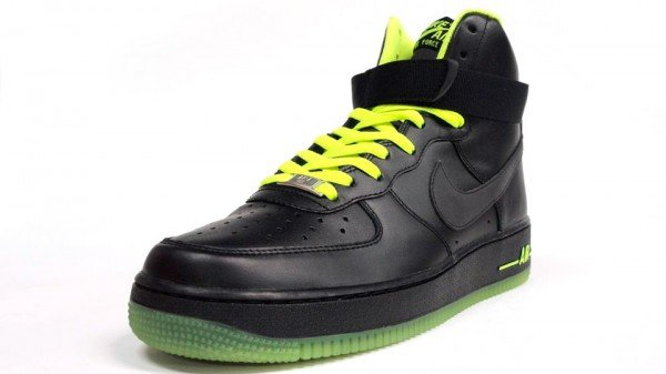Nike Air Force 1 High 'Black/Black-Volt' - Another Look