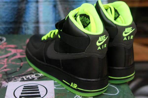 Nike Air Force 1 High 'Black/Volt' at Social Status