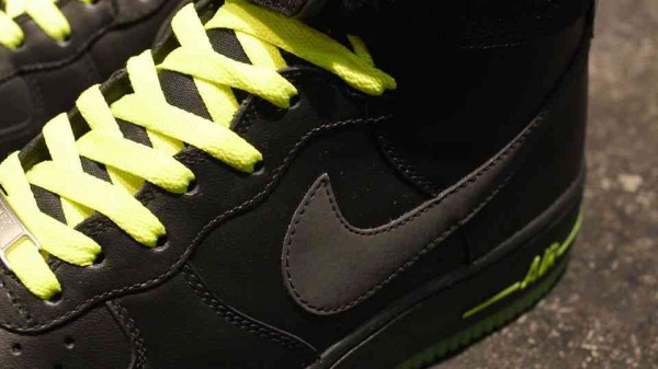 Nike Air Force 1 High 'Black/Black-Volt'