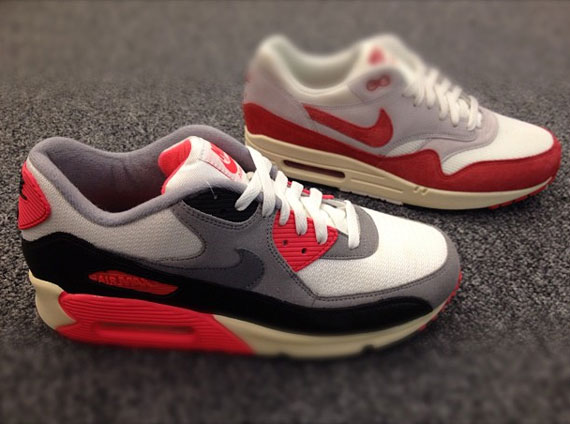 outlet store 38e03 a78f3 Nike Air Max 90  Infrared  and Air Max 1  Sport ...