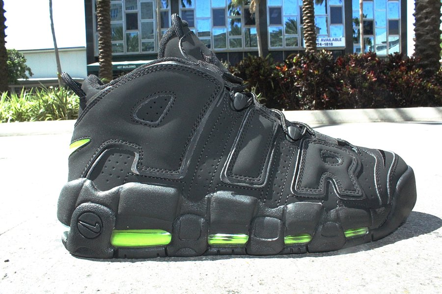Nike Air More Uptempo 'Black/Volt' - Another Look