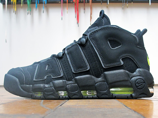 Nike Air More Uptempo 'Black/Volt' at 21 Mercer