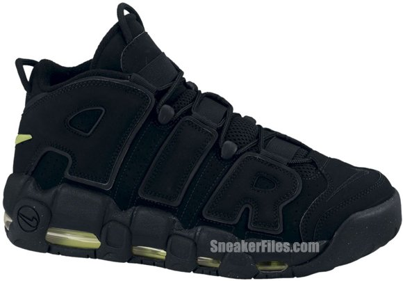 Release Reminder: Nike Air More Uptempo 'Black/Black-Volt'