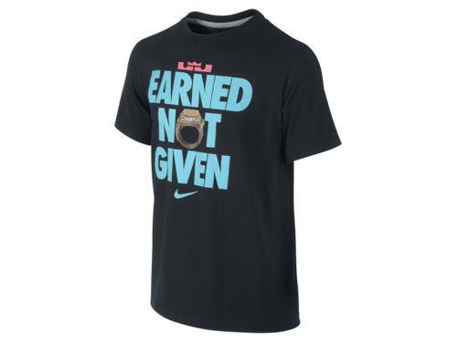 Nike Basketball LeBron James 'Earned, Not Given' South Beach Champion Tee