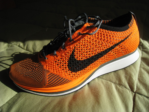 a0f94e3a3b94a Nike Flyknit Racer  Total Orange White-Dark Grey  - Release Date + ...