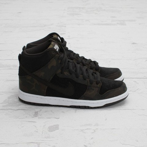 Nike SB Dunk High 'Iguana Camo' at Concepts