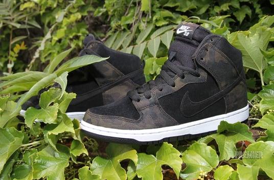 Nike SB Dunk High 'Iguana Camo' at Premier