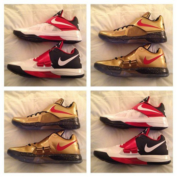 cheap for discount f1e34 9a73b Nike Zoom KD IV  Gold Medal