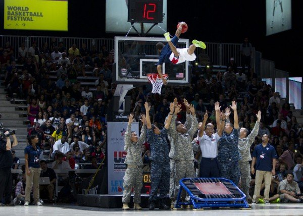 Nike and USA Basketball Host 'Hoops for Troops'