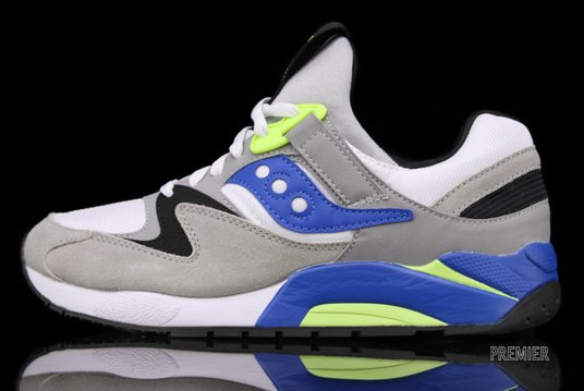 Saucony Grid 9000 'White/Blue'