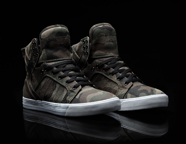 Supra Skytop 'Green Camo' Zumiez Exclusive