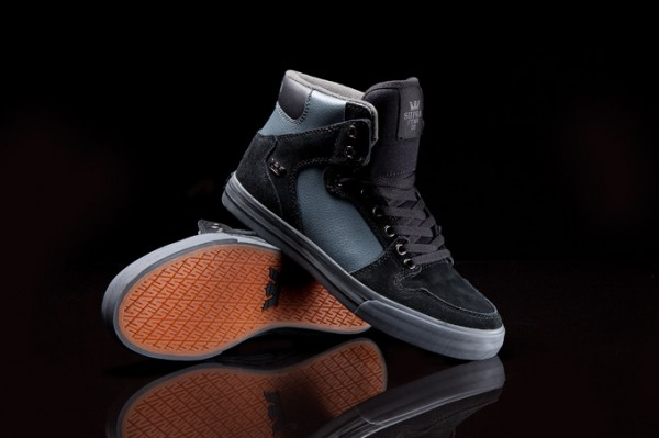 63beaf11e25f Supra Vaider  Black Suede and Grey Leather