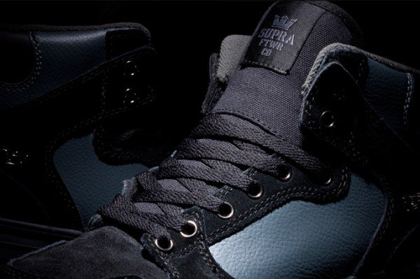 Supra Vaider 'Black Suede and Grey Leather'