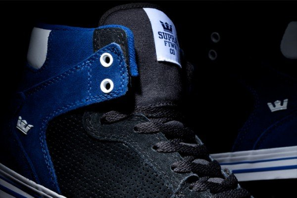 Supra Vaider 'Black and Navy Blue Suede'