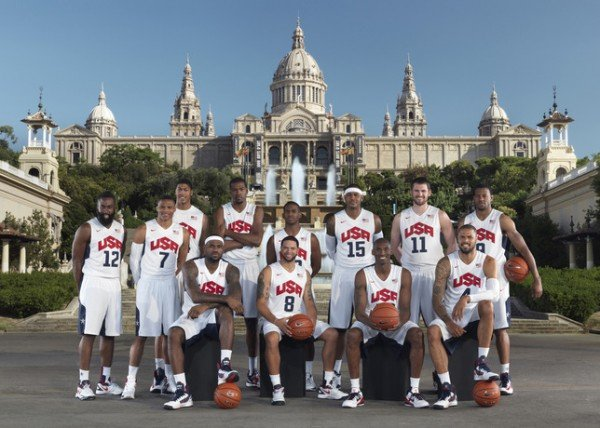 USA Men's Basketball Team in Barcelona for WBF 2012