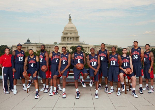 USA Men's and Women's Basketball Teams at the Nike World Basketball Festival