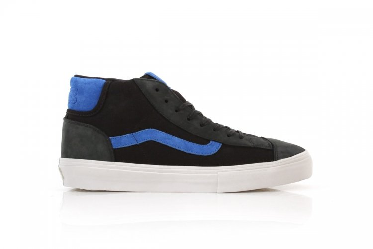 Vans Vault Mid Skool 77 LX Italian Leather 'Black/Skydiver'