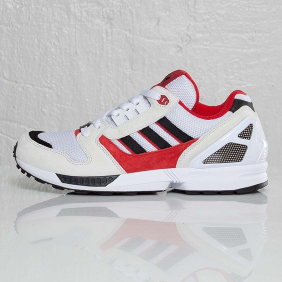 adidas Originals ZX 8000 'White/Black/Light Scarlett'