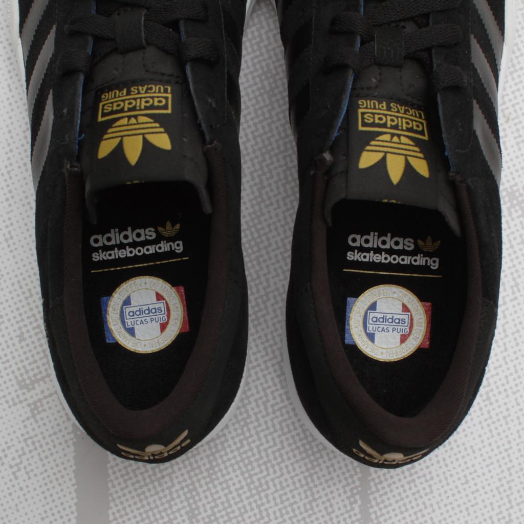 adidas Skateboarding Lucas Pro  Black White Metallic Gold ... 232cd35d0